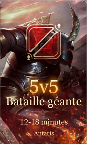 Bataille geante 5v5 antaris arena of valor