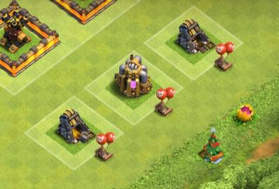Bombe aerienne exemple proteger ressource clash of clans