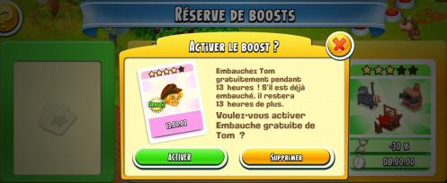 Boost rose activer tom gratuit capture hay day