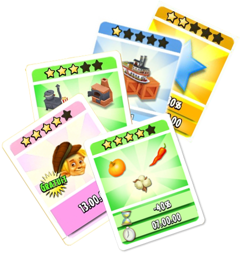 Boosts cartes magiques hay day