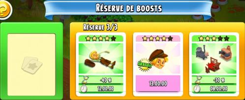 Boosts reserve capture hay day