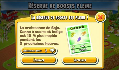 Boosts reserve pleine capture hay day