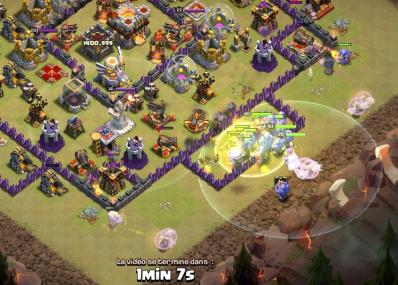 Bouliste fee horde centre base hdv 11 compo gdc clash of clans