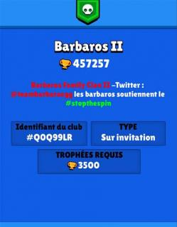 Brawl stars club barbaros 2 description