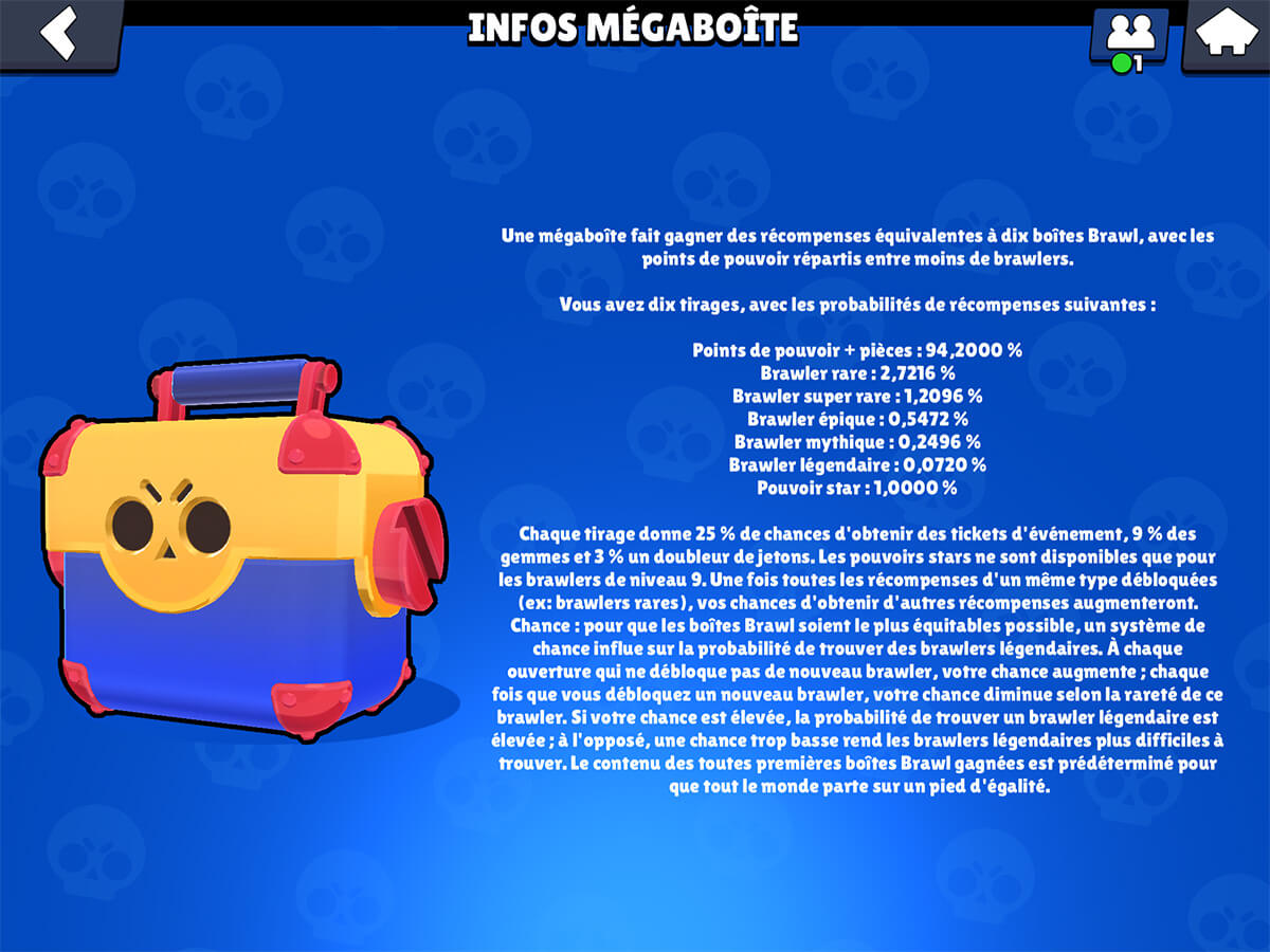 Brawl stars megaboite drop rate
