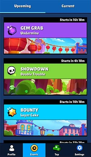 Brawl stars upcoming events brawl stats