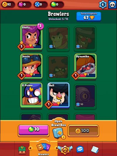 Brawlers personnages brawl stars