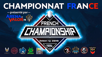Championnat france arena of valor aov fr