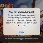 Clash of clans banned banni a vie