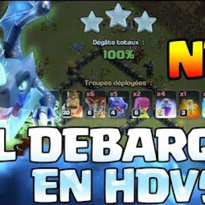 Clash of clans fr attaque hdv 9 compo electro dragon