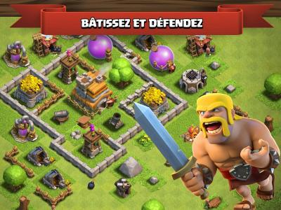 Clash of clans jeu mobile ios android batir defendre village