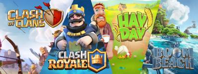 Clash of clans royale boom beach hay day papys warriors jeux mobiles