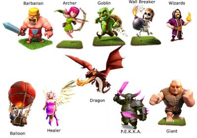Clash of clans troops 1