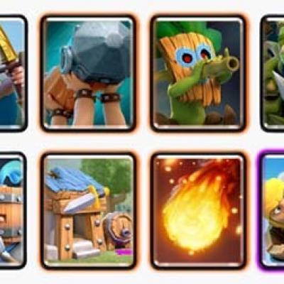 Clash royal deck recrue cabane barbare