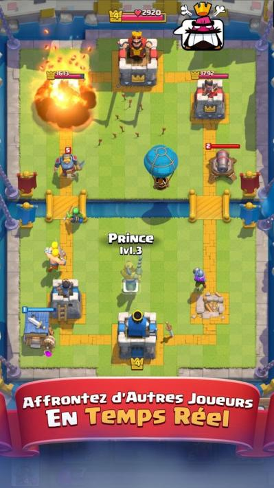 Clash royale jeu mobile carte strategie temps reel