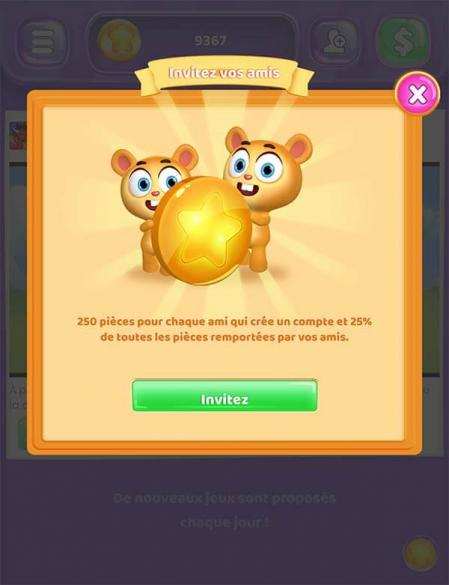Coin pop invitez ami