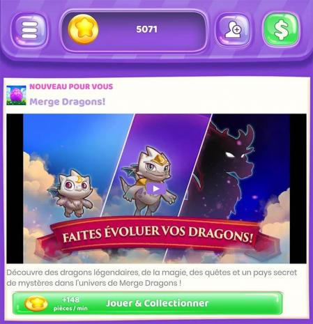 Coin pop merge dragons pieces
