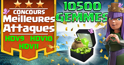 Concours meilleures attaques clash of clans