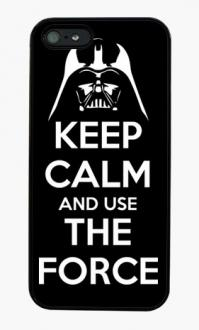 Coque iphone keep calm and use the force