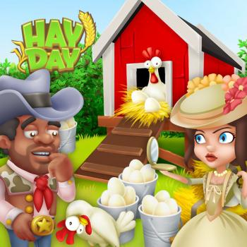 Dallas au poulailler hay day