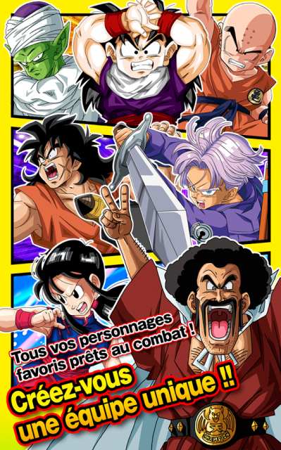 Dragon ball z dokkan battle creer equipe