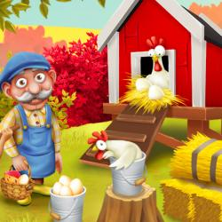 Ernest poules nourrir oeufs hay day