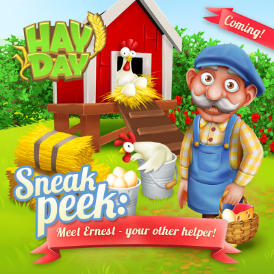 Ernest sneak peek hay day ouvrier agricole