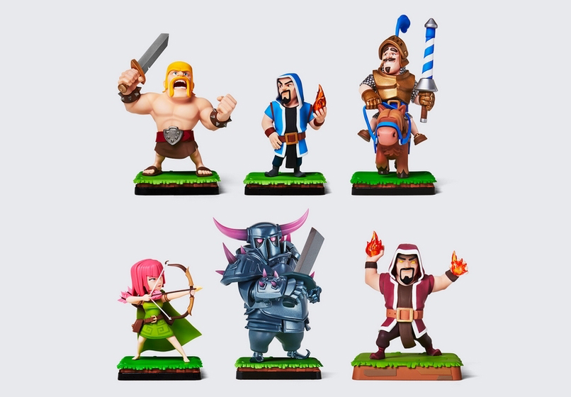 Figurines pack clash boutique supercell
