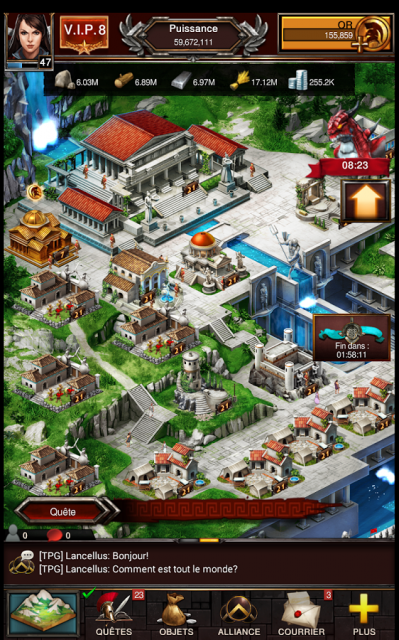 Game of war fire age gameplay ville strategie