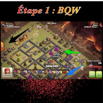 Glorious walk etape 1 bqw clash of clans