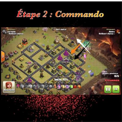 Glorious walk etape 2 commando clash of clans
