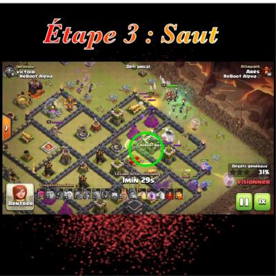 Glorious walk etape 3 saut clash of clans