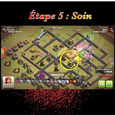 Glorious walk etape 5 soin clash of clans