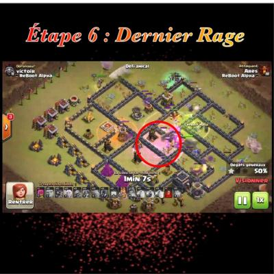 Glorious walk etape 6 dernier rage clash of clans