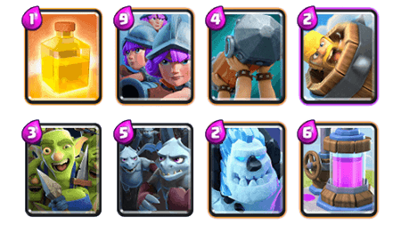 Guerison deck clash royale 3
