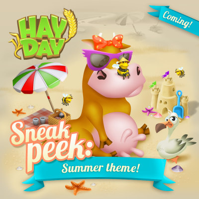 Hay day sneak peek plage theme ete maj
