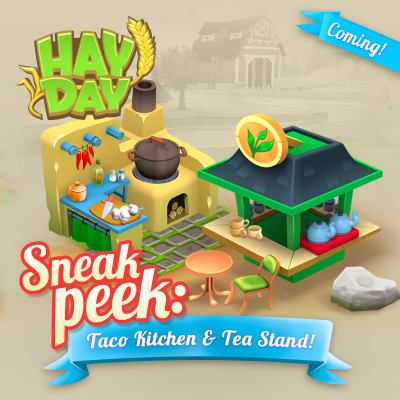 Hay day sneak peek stand the cuisine taco