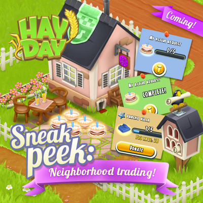 Hay day sneak peek vente voisin