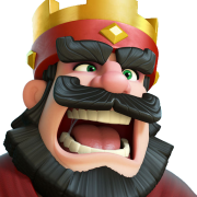 King clash royale sans fond