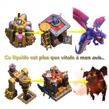 Liquide vital clash of clans