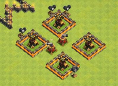 Mine chercheuse exemple placement clash of clans