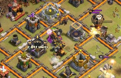Mine chercheuse exemple placement par 2 molosse clash of clans