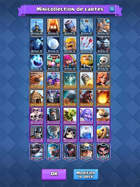 Minicollection de cartes clash royale