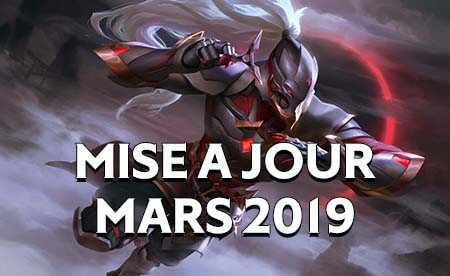 Mise a jour arena of valor mars 2019