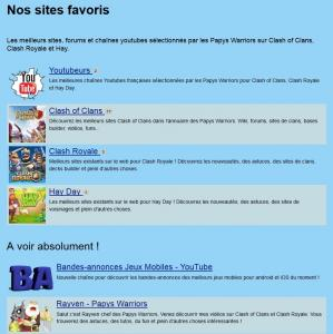 Nos sites favoris promo chaine youtube papys warriors