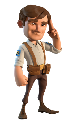 Ouvrier personnage boom beach