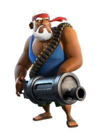 Papy gros bras troupe boom beach