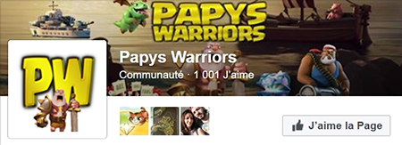 Papys warriors 1001 likes facebook