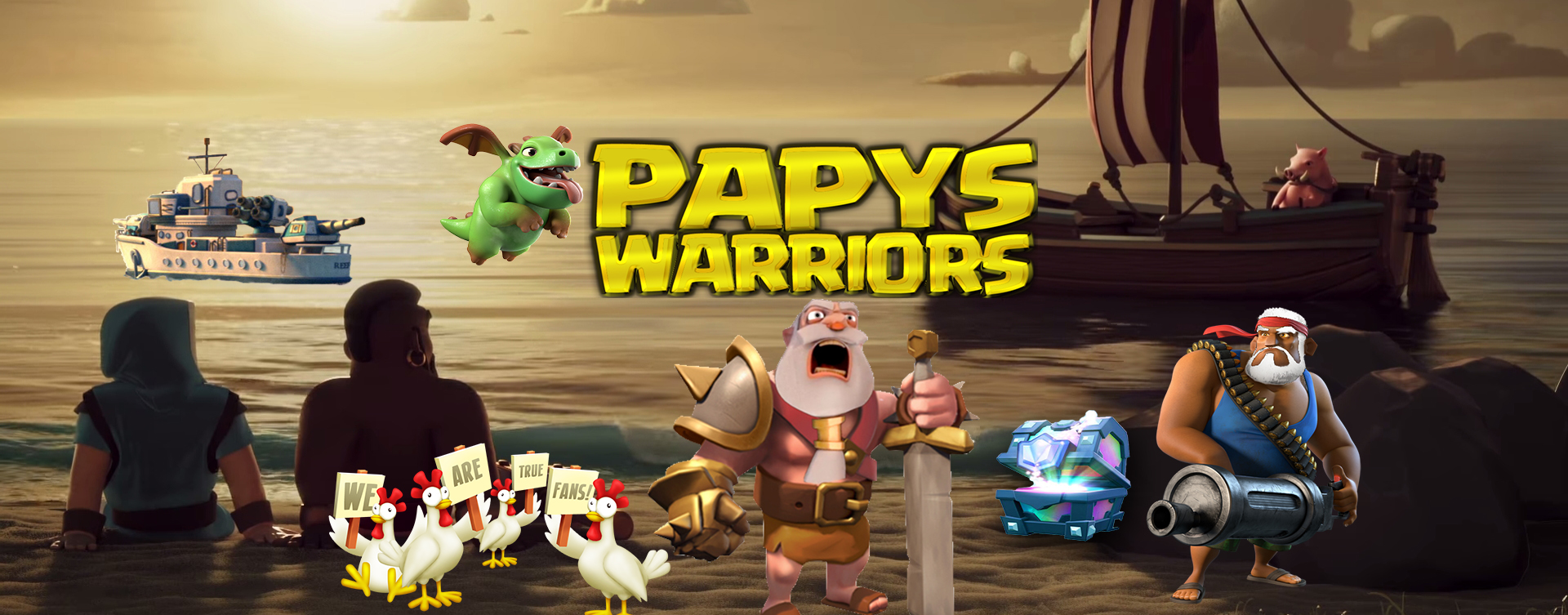 Papys warriors banniere twitter communaute jeux mobile