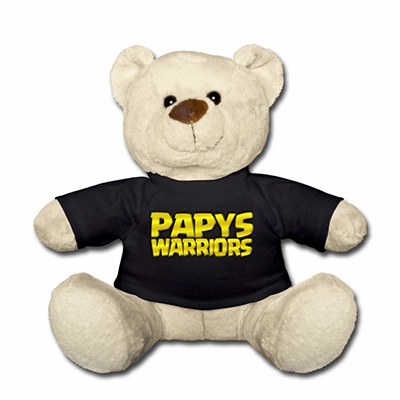 Peluche papys warriors noir